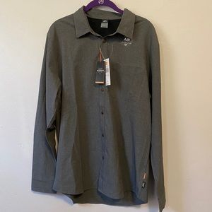 Gray Quicksilver Tech LS Shirt